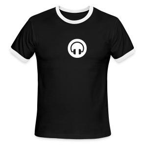 Black HeadPhone Ringer - Men's Ringer T-Shirt