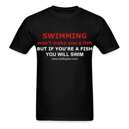 Fish Swim Tee - Men's T-Shirt