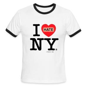 I hate NY (just like Heidy) - Men's Ringer T-Shirt