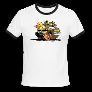 T-Shirts ~ Men's Ringer T-Shirt ~ duckie sports racer - white