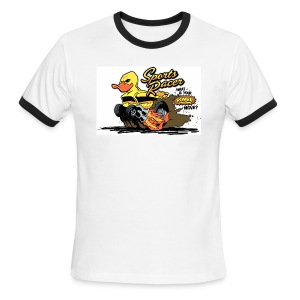 duckie sports racer - white - Men's Ringer T-Shirt