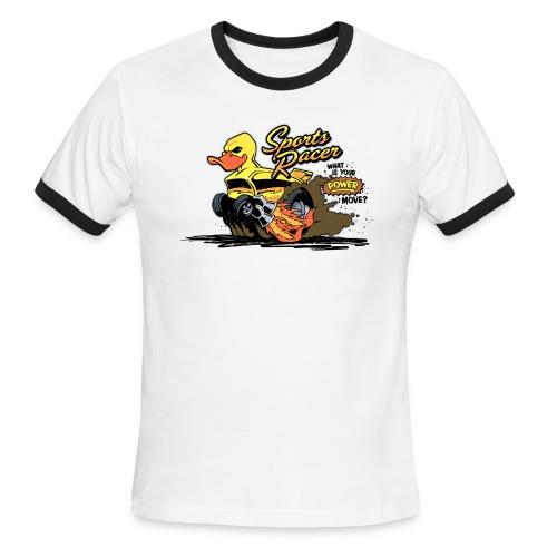 duckie sports racer - white - Men's Ringer T-Shirt
