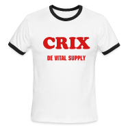 T-Shirts ~ Men's Ringer T-Shirt ~ CRIX DE VITAL SUPPLY - RINGER - IZATRINI.com