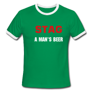 T-Shirts ~ Men's Ringer T-Shirt ~ STAG A MAN'S BEER - MEN'S RINGER - IZATRINI.com