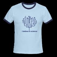 T-Shirts ~ Men's Ringer T-Shirt ~ Tree of Life: Blue Ringer