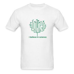 Tree of Life: Lightweight White (Green) - Men's T-Shirt