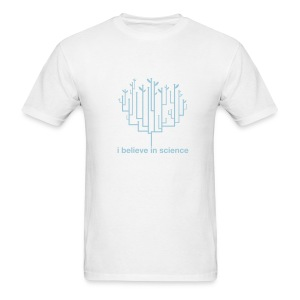 Tree of Life: Lightweight White (Blue) - Men's T-Shirt