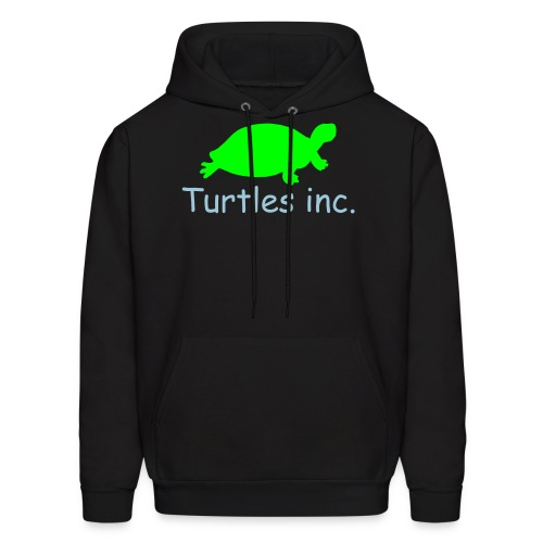 Turtles inc. Natural Hoodie (Black/Neon Green/Light Blue) - Men's Hoodie