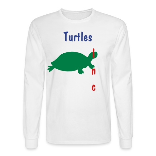 Turtles inc. America LS Tee (White/Royal Blue/Green/Red) - Men's Long Sleeve T-Shirt