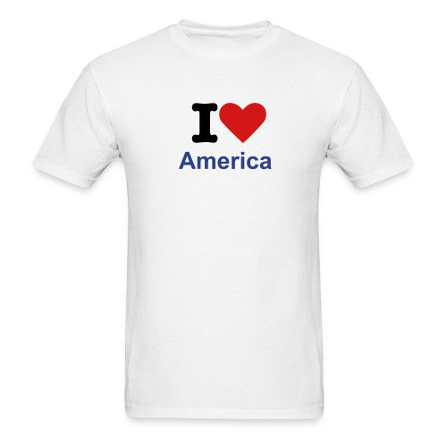 Loving America       Freedom edition - Men's T-Shirt