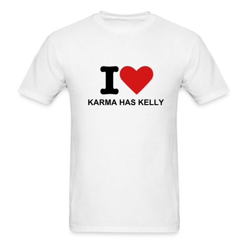 I Heart Karma Shirt - Men's T-Shirt