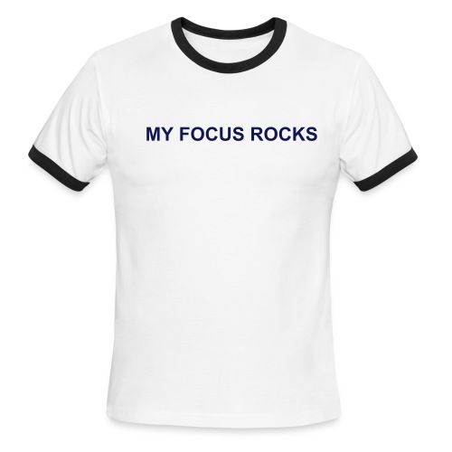 My Focus Rocks Ringer Tee - Men's Ringer T-Shirt