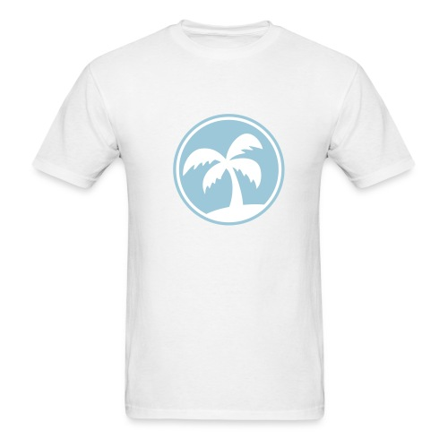 Blue Palm Tree T-Shirt - Men's T-Shirt