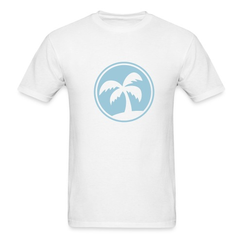 Blue Palm Tree T-Shirt - Men's T-Shirt