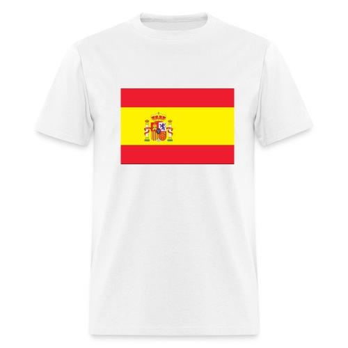 Spain Flag On White T-Shirt - Men's T-Shirt