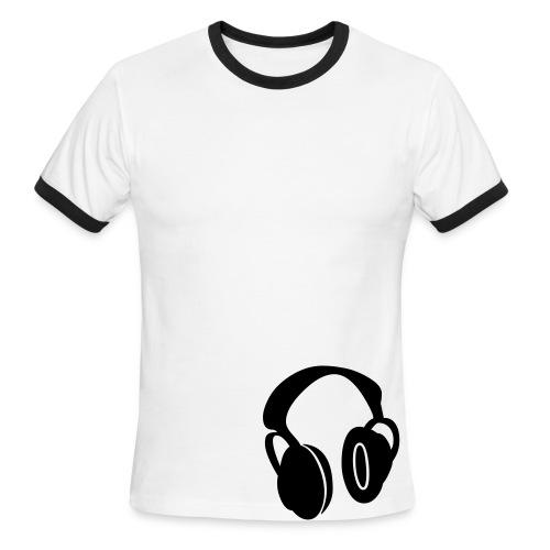 Headphones T - Men's Ringer T-Shirt