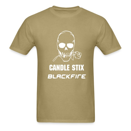 KHAKI CANDLE STIX BLACKFIRE T-SHIRT - Men's T-Shirt