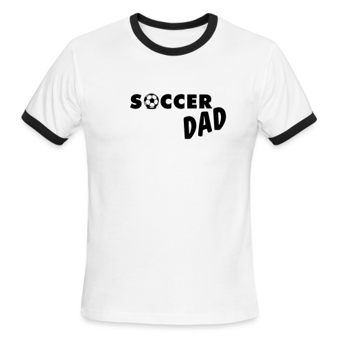 mens soccor dad t-shirt - Men's Ringer T-Shirt