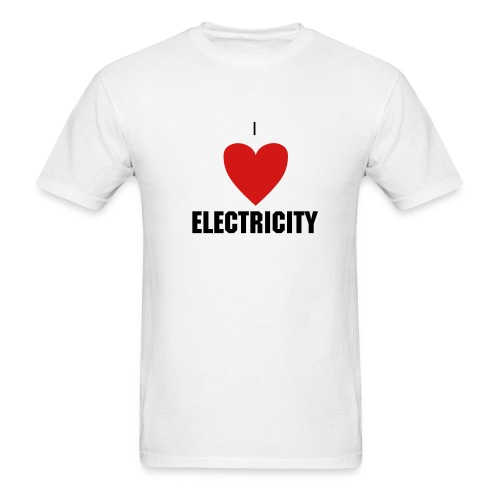 I HEART ELECTRICITY Shirt - Men's T-Shirt