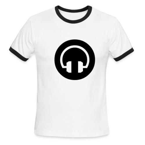 HeadPhones Ringer Tee WH/BLK - Men's Ringer T-Shirt