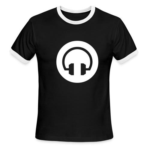 HeadPhones Ringer Tee BLK/WH - Men's Ringer T-Shirt