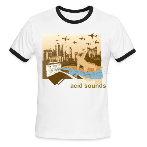 ACID SOUNDS. - Men's Ringer T-Shirt