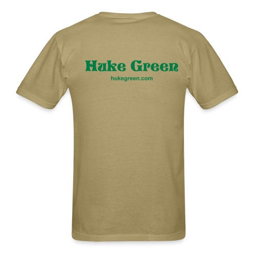 Huke Green - Tan/Green - Men's T-Shirt