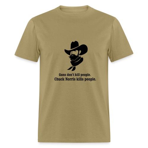 chuck norris kills - Men's T-Shirt