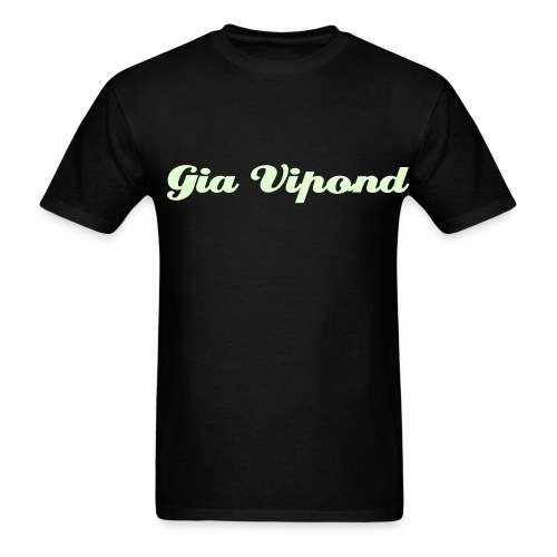 GLOW IN THE DARK black Gia Name T-Shirt! - Men's T-Shirt