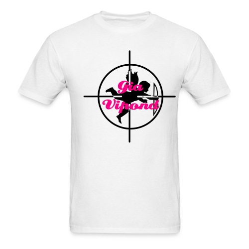 Lightweight White Gia Cupid Crosshairs Logo T-Shirt! - Men's T-Shirt