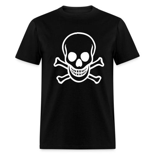 Black Skull And Crossbones Tee - Men's T-Shirt