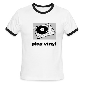 play vinyl ringer - Men's Ringer T-Shirt