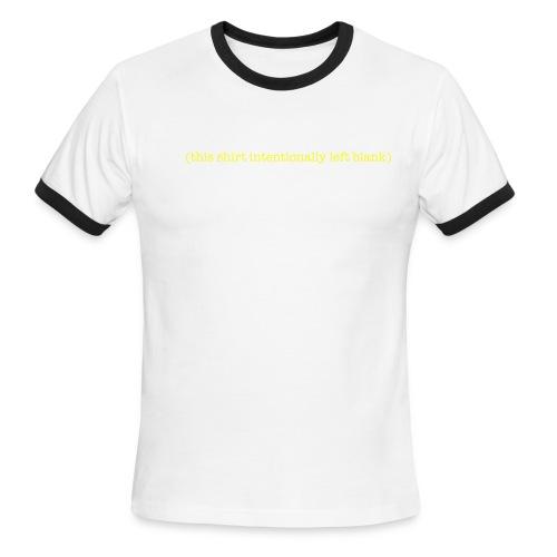 Left blank - Men's Ringer T-Shirt