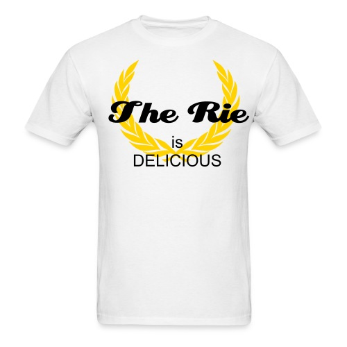 The Rie is Delicious wht - Men's T-Shirt