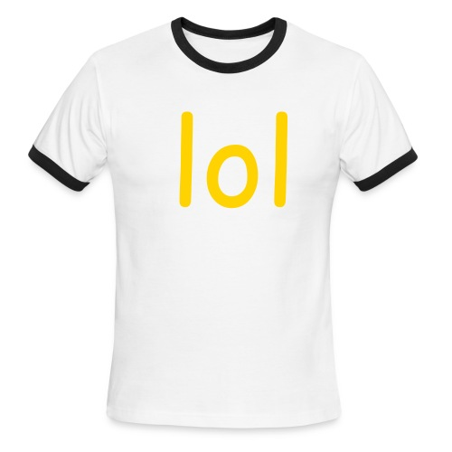 T-messages (lol) - Men's Ringer T-Shirt