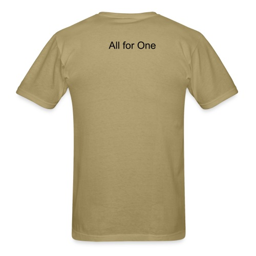 Men's T-Shirt - For those guys (and girls?!) who like to show everyone what you're made of, this shirt is for you.  Don't be afraid to put out fires, as long as your rocking out to All for One.