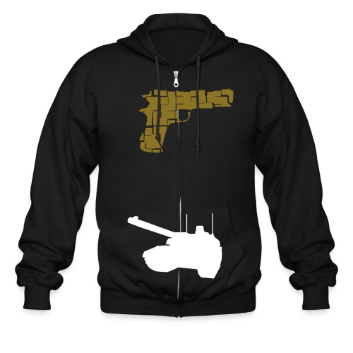 Warfare - Men's Zip Hoodie