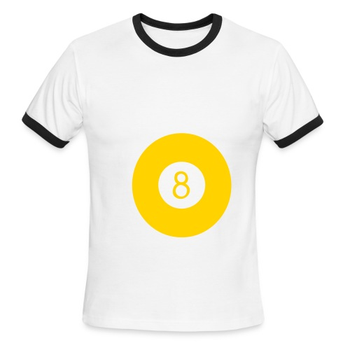 8 Ball gold - Men's Ringer T-Shirt