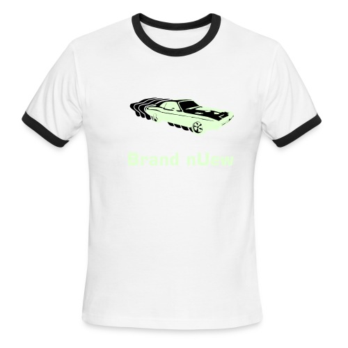 Mens:  Brand nUew Muscle Car Green - Men's Ringer T-Shirt