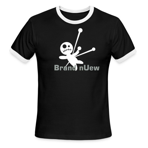 Mens: Brand nUew Rag Doll Black & White - Men's Ringer T-Shirt