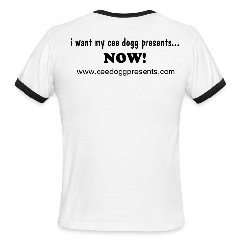 I want my ringer T (white/black) - Men's Ringer T-Shirt