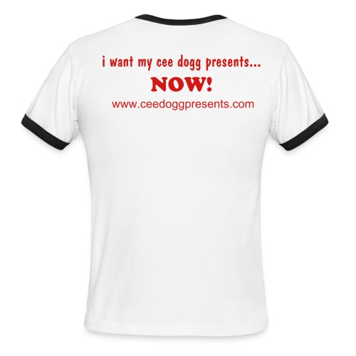 I want my ringer Tee (White/Red) - Men's Ringer T-Shirt