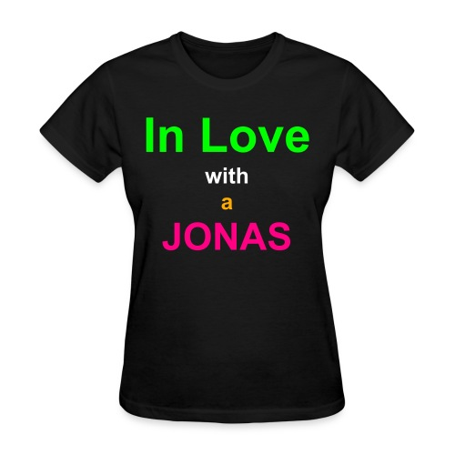 In Love with a JONAS/Nick Jonas Quote Tee - Women's T-Shirt