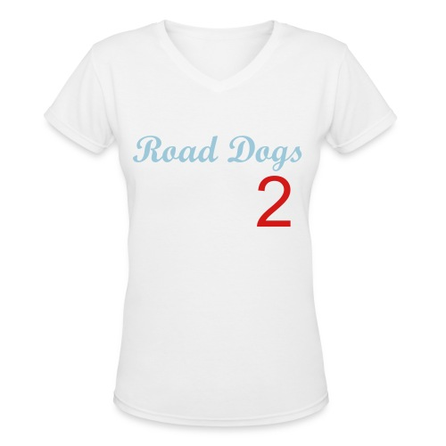 Nick Jonas Road Dogs Offical Shirt - Women's V-Neck T-Shirt