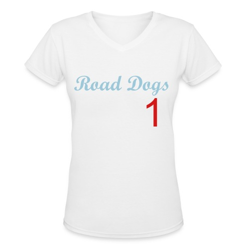 Joe Jonas Road Dogs Offical Shirt - Women's V-Neck T-Shirt