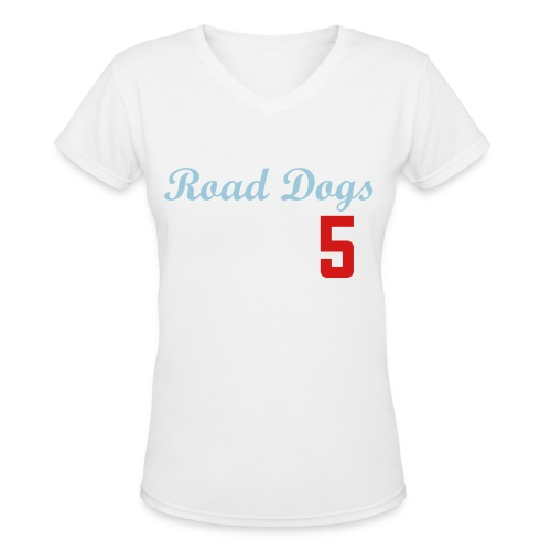 Garbo Road Dogs Offical Shirt - Women's V-Neck T-Shirt