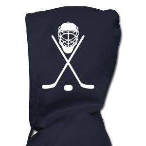 Mens Zip Up Hoodie with logo on hood - Men's Zip Hoodie