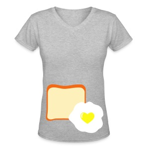 Breakfast Time - Women's V-Neck T-Shirt