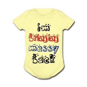 messy baby - Short Sleeve Baby Bodysuit