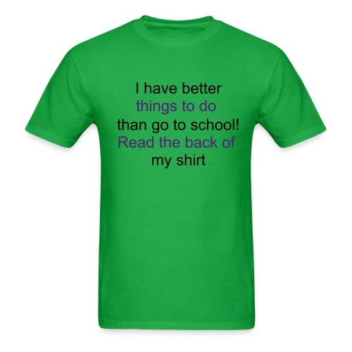 Green- Waterfallgirl2 Back-To-School T-shirt - Men's T-Shirt
